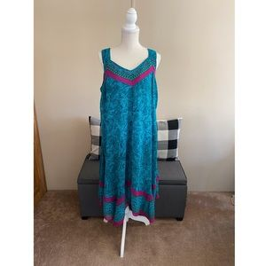 Catherine's Deep Turquoise Flowy Dress Size 14/16W